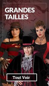 Déguisement Halloween Grande Taille pour femme et homme: Déguisements XXXL, XXL, XL de films d'horreur pour halloween.