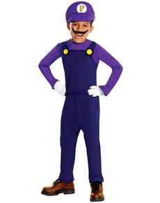 Costume de Waluigi haut de gamme pour garçon