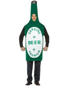 Costume bouteille de bière verte