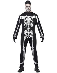 Déguisement de squelette terrifiant