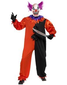 Déguisement de clown effrayant du cirque sinistre