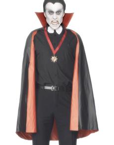 Cape de vampire réversible noire et rouge