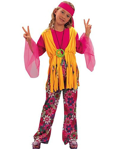 Déguisement fille hippie