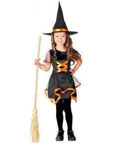 Déguisement d'une sorcière souriante pour fille