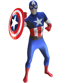 Costume de Captain america Morphsuit