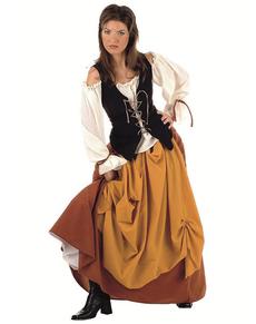 Costume de paysanne médiévale