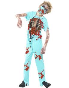 Costume zombie médecin pour garçon