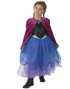 Costume Anna La reine des neiges Premium fille