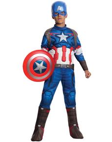 Costume Captain América Avengers: L'Ère d'Ultron deluxe enfant