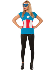 Kit Costume American Dream Classic Marvel  femme