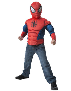 Kit costume de Spiderman musclé garçon