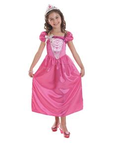 Costume Barbie rose fille