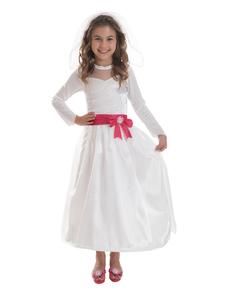 costume Barbie mariée fille