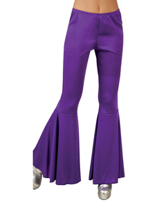 Pantalon Pattes d'eph violet femme
