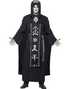 Déguisement prêtre de secte satanique homme